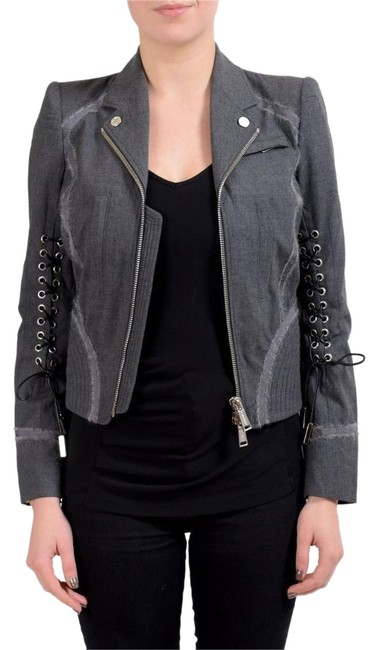 Item - Gray Wool Full Zip Women's Basic Jacket Size 4 (S)