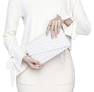 Anthropologie Zara Leather Louis Vuitton White Clutch