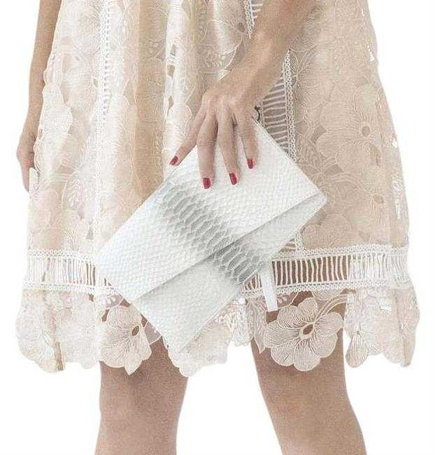 Item - Chelsea White Leather Clutch