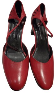 Etienne Aigner Chunky Heels Red Pumps