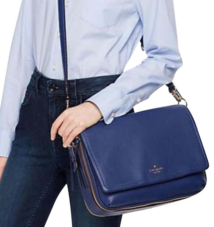 e1d63554ae Well-liked Kate Spade Cobble Hill Mayra Asilah Blue Leather Messenger Bag  UQ56