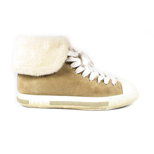 Item - Beige / White Sport Shearling - 37.5 - Womens Brown Suede High Top Sneakers Size US 7.5 Regular (M, B)