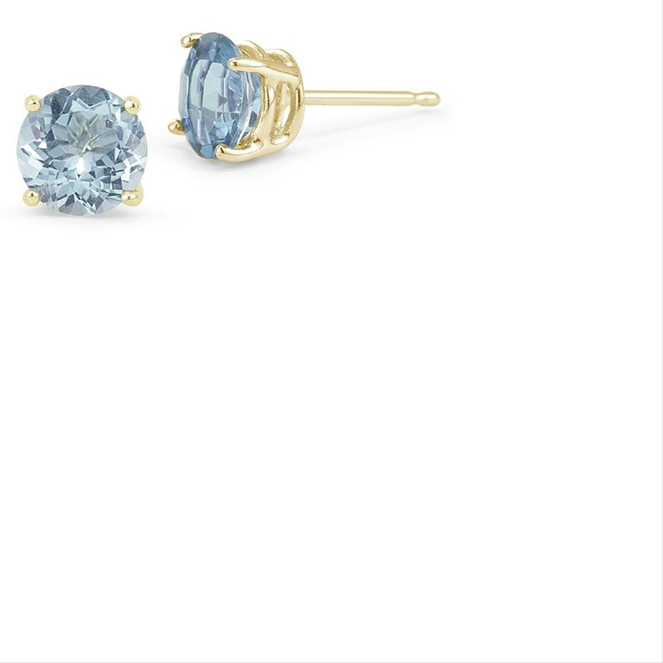 8971999a2 Apples of Gold Aquamarine Stud Earrings, 14K Yellow Gold Image 0 ...