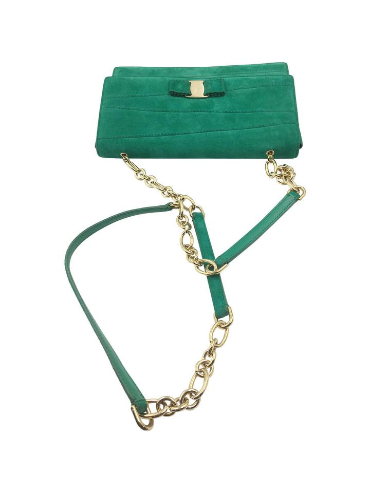 Salvatore Ferragamo Ginny Green Suede Shoulder Bag - Tradesy 031fe80155744