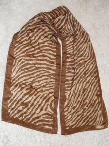 Diane von Furstenberg Diane von Furstenberg brown and gold, zebra pattern long scarf (Read description)