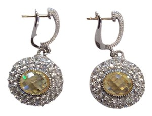 Judith Ripka NEW 100% Authentic Judith Ripka Isabella Spinel Canary Crystal & White Sapphire Drop Earrings