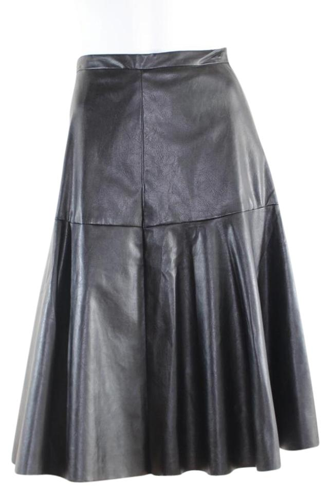 cdc35d90d2006 J.O.A. Black Faux Leather Small Skirt Size 4 (S
