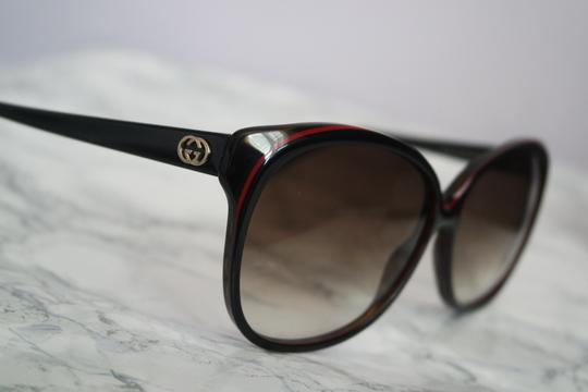 34d09f045da2 Gucci NEW Gucci Women's 3165/S Logo Stripe Frame Oversized Sunglasses Image  6