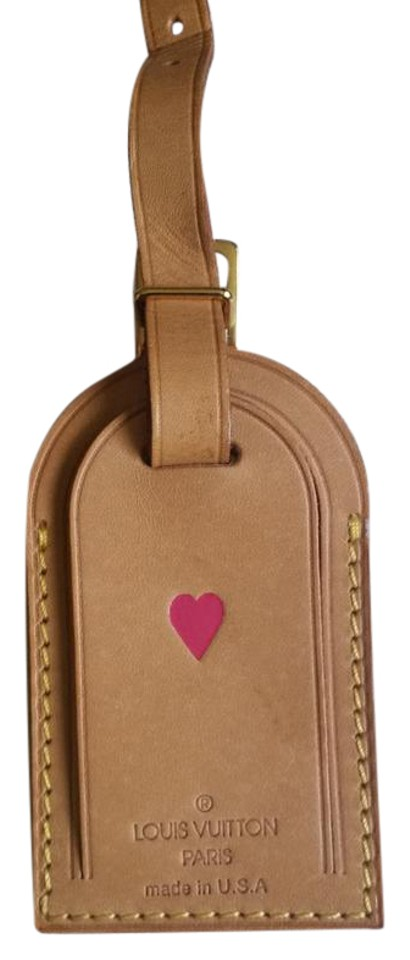 827fcb990b40 Louis Vuitton Luggage Tag with Heart Hot Stamp Vachetta Brown ...