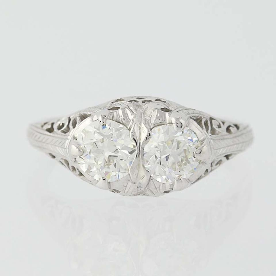 deco rings diamond in product european engagement cut old ring platinum art antique