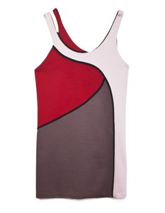 Marni Wool Colorblock Mod Dress
