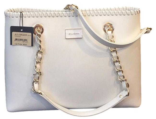 Item - Cream Leather Satchel