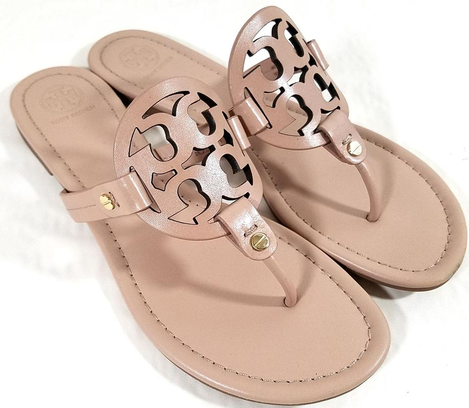 9df95bb53f35 Tory Burch Makeup Leather Miller Sandals Size US 9.5 Regular (M
