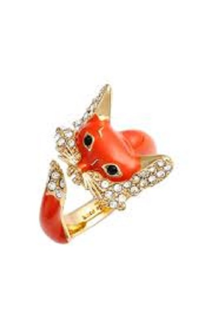 Item - Orange 12k Gold-plated 'into The Woods' Fox Wrap 7 New Ring