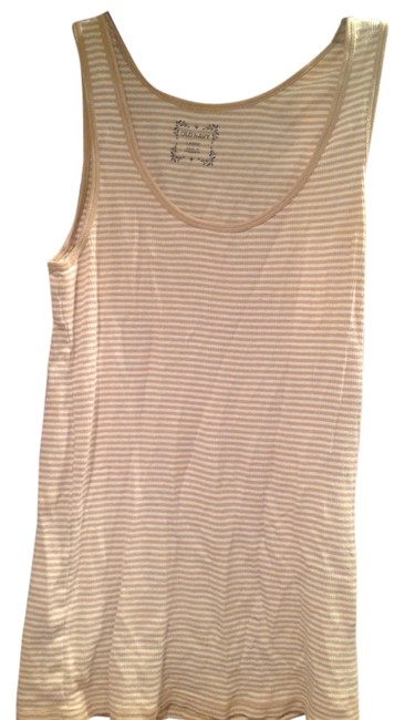 Old Navy Top Light Brown and white