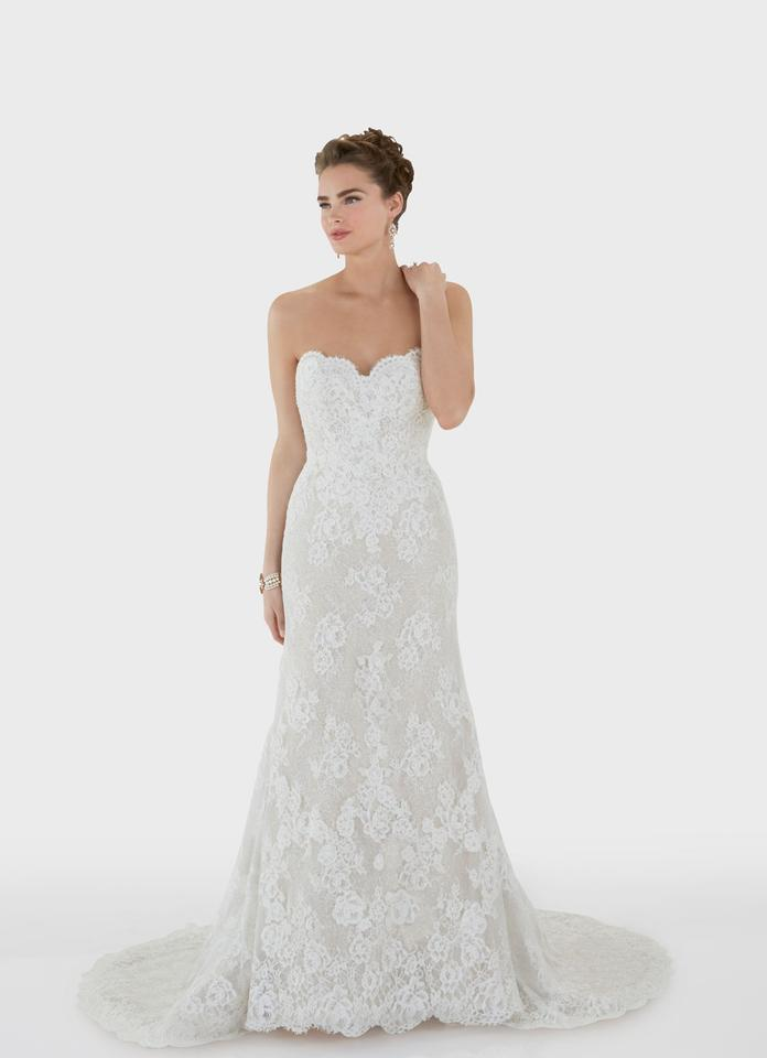 Matthew Christopher Ivory Lace with Sparkle Champagne Undertone ...