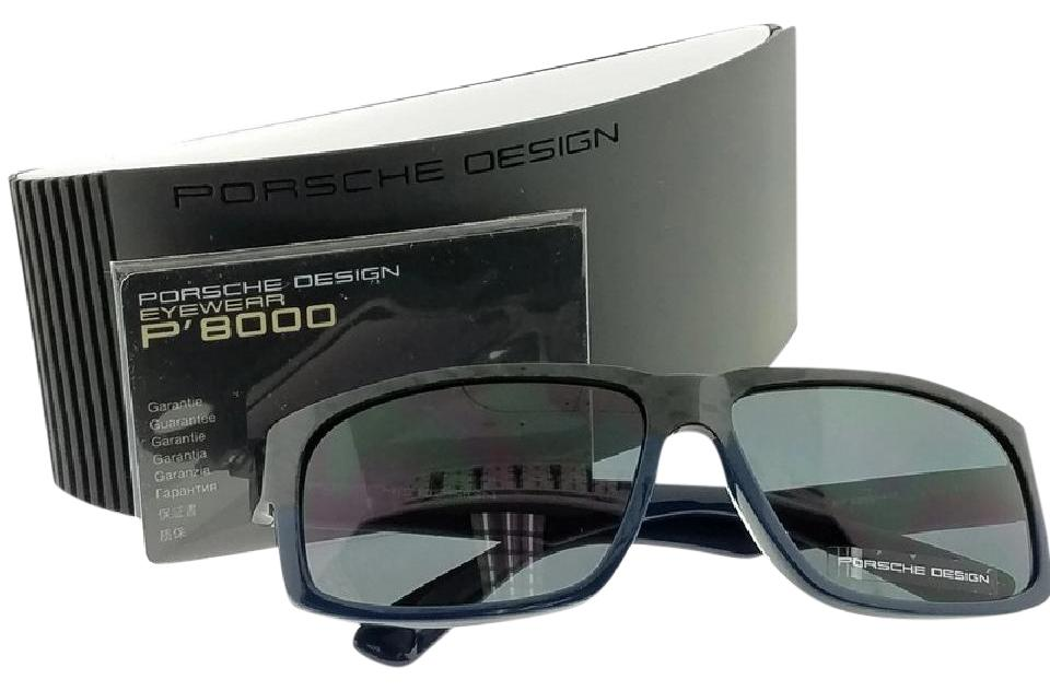 41868d0e77b5 Blue Frame P8547-d Rectangular Men s Grey Lens Genuine Sunglasses ...