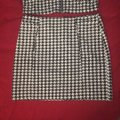Miss Love Black and White Two Piece Vest Skirt Suit Size 12 (L) Miss Love Black and White Two Piece Vest Skirt Suit Size 12 (L) Image 2