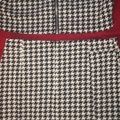 Miss Love Black and White Two Piece Vest Skirt Suit Size 12 (L) Miss Love Black and White Two Piece Vest Skirt Suit Size 12 (L) Image 4