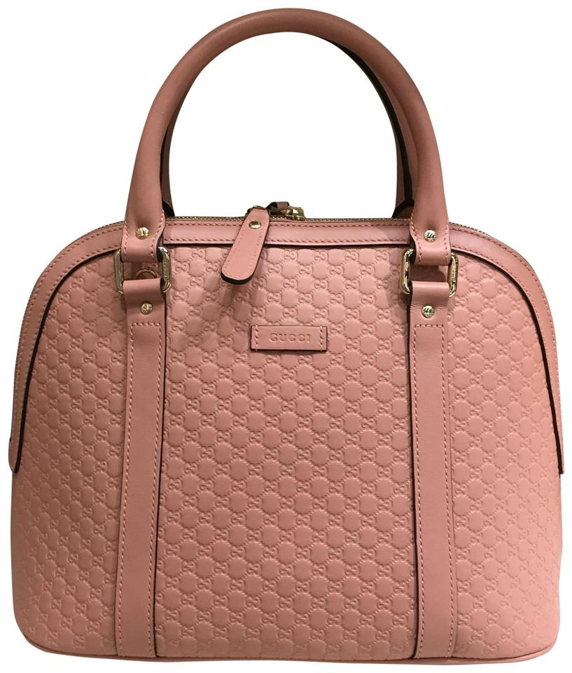 60c1c649 Dome Gg Leather Pink Satchel