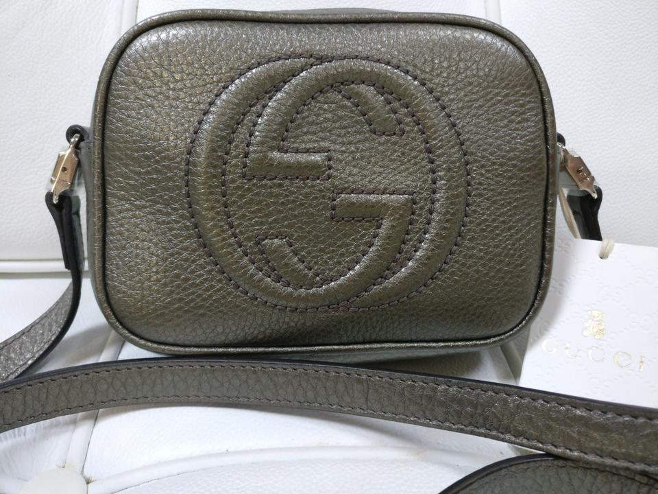 71e09be84bb Gucci Soho Disco Camera Gray Leather Cross Body Bag - Tradesy