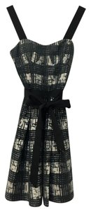 Guess By Marciano Fit And Flare Graphic Bow Plaid Dress