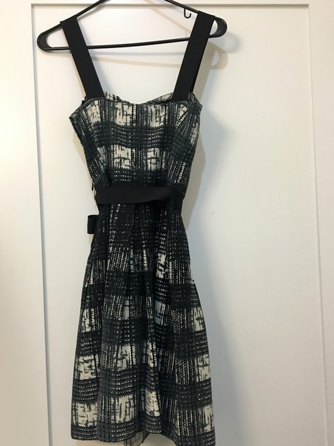 Guess By Marciano Fit And Flare Graphic Bow Plaid Dress Image 2