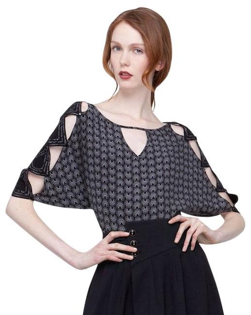 Preload https://img-static.tradesy.com/item/2200917/anthropologie-black-and-silver-misis-by-leifsdottir-blouse-size-8-m-0-0-650-650.jpg