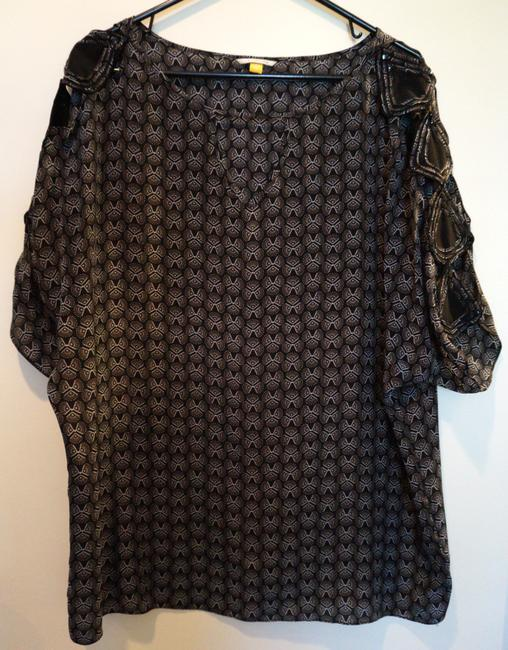 Anthropologie Top Black & Silver Image 1