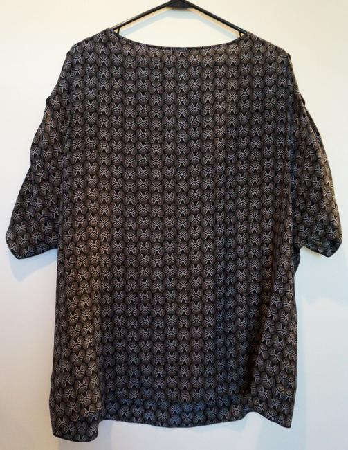 Anthropologie Top Black & Silver