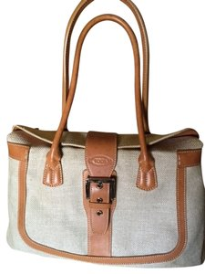 Tod's Satchel in Tan and Oatmeal