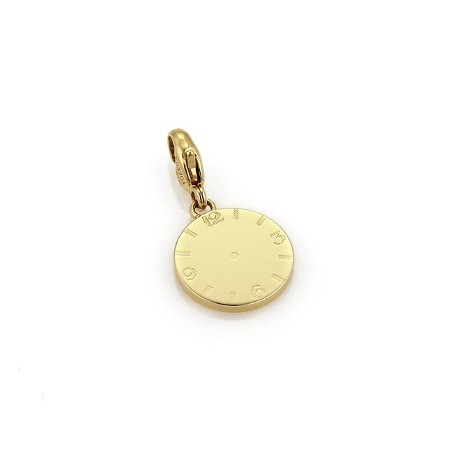 Cartier 21246_ Round Disc Shape Clock 18k Yellow Gold Charm Cartier 21246_ Round Disc Shape Clock 18k Yellow Gold Charm Image 1