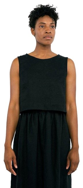 Preload https://img-static.tradesy.com/item/22009760/elizabeth-suzann-black-petra-crop-in-midweight-linen-tank-topcami-size-0-xs-0-1-650-650.jpg