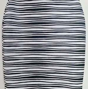 NY Collection Skirt black and white