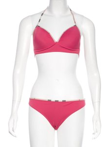 81a2c477410 Burberry Pink multicolor Burberry Nova check trimmed two-piece swimsuit M