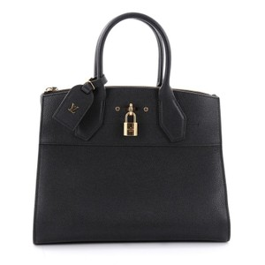 Louis Vuitton City Steamer Leather Tote in Black