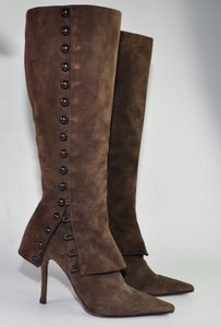 Le Silla Suede Brown Boots