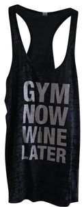 Next Level Apparel Gym Now Wine Later Burn-Out Tank