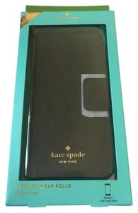 Kate Spade Kate Spade New York Black Leather Wrap Folio Case For iPhone 7