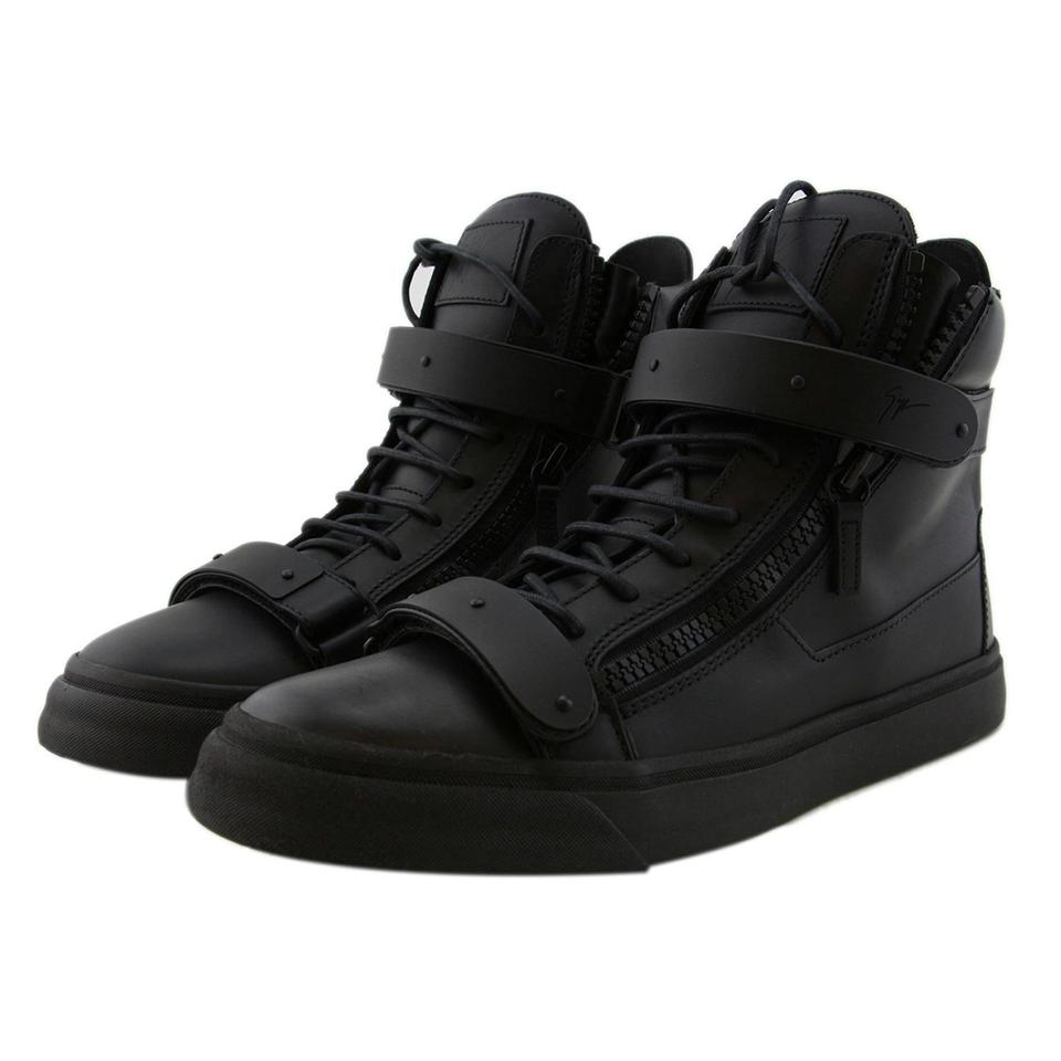 9faf876844b83 Giuseppe Zanotti Men Boots Sneakers High-top Sneaker Double-strap Black  Athletic Image 0 ...