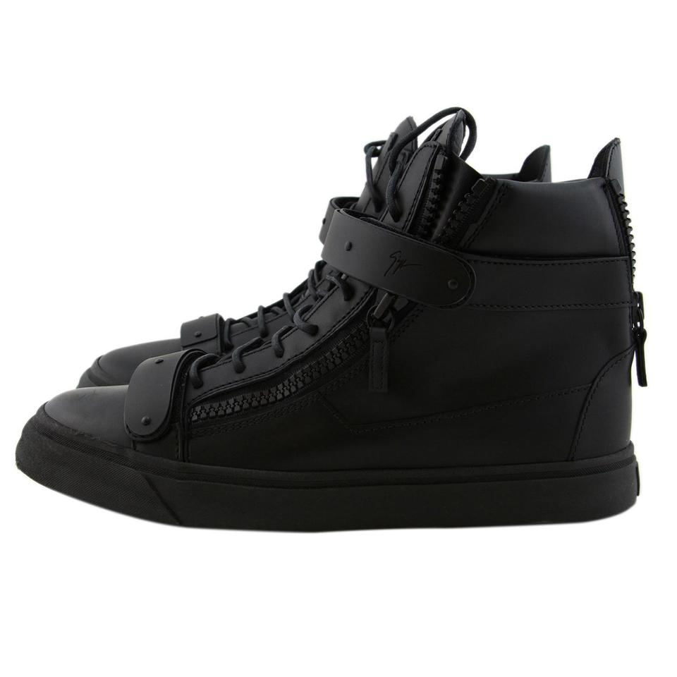 a8140cb2cfd6d Giuseppe Zanotti Black New Men / Eu 44 Calf Leather Dual Strap High-top Sneakers  Sneakers Size US 11 Regular (M, B) - Tradesy