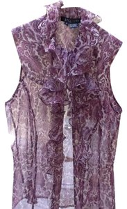 Etcetera Top White And Purple