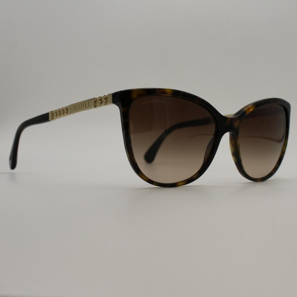 016ce45154 Chanel Dark Tortoise Gold Butterfly Summer Collection Sunglasses 5352 c.714  Image 0 ...