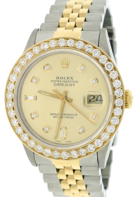 Rolex Gold & Steel W Datejust 2-tone 36mm Jubilee W/Diamond Dial 2.70ct Bezel Watch Rolex Gold & Steel W Datejust 2-tone 36mm Jubilee W/Diamond Dial 2.70ct Bezel Watch Image 1