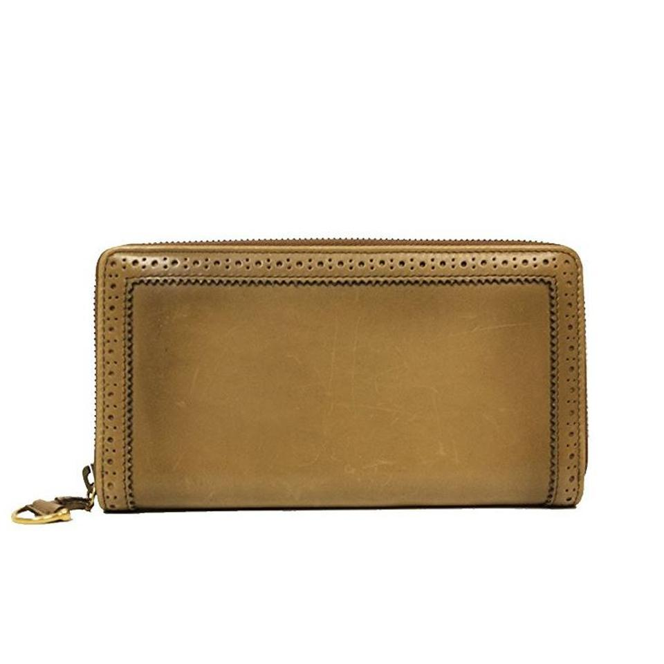 77374d9a6956e4 Gucci Brown Zip Around Leather 295371 Wallet - Tradesy