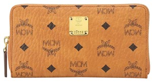 MCM Double Zip Extra Large Organizer Wallet