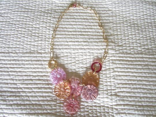 Antica Murrina Antica Murrina Velvet Murano Glass Flower Necklace