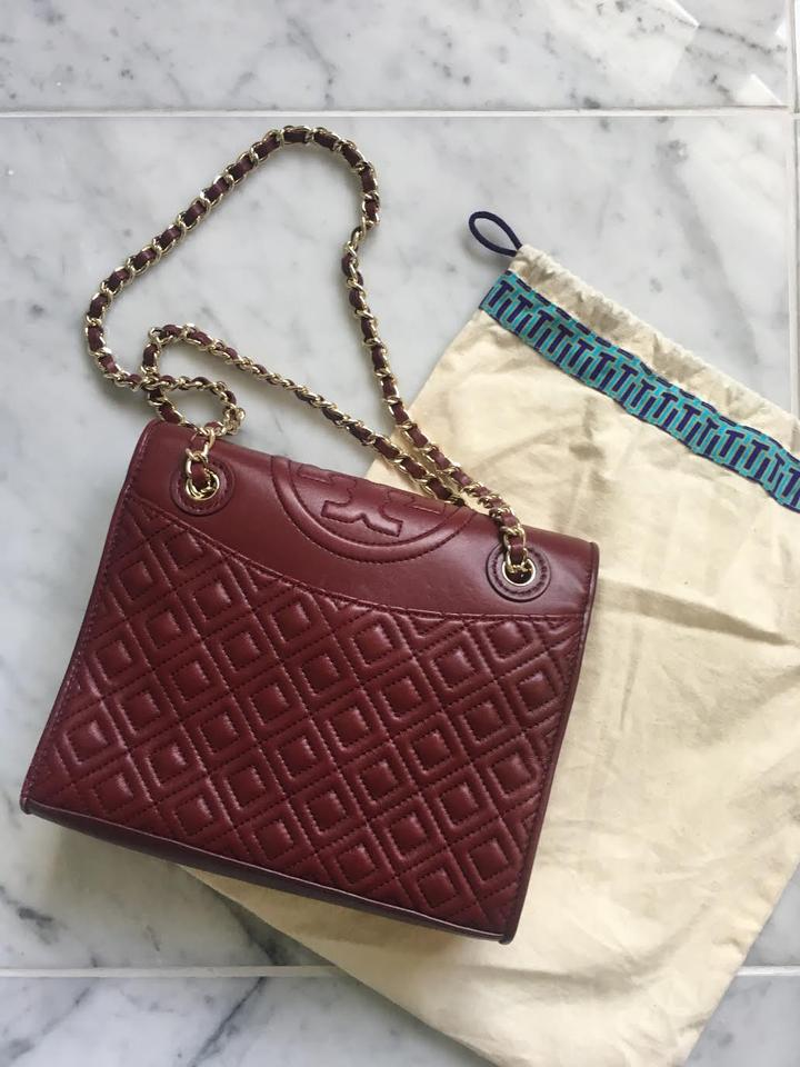 fc0b82183fa Tory Burch New Diamond-stitched Dark Red Leather Cross Body Fall Style Shoulder  Bag Image ...