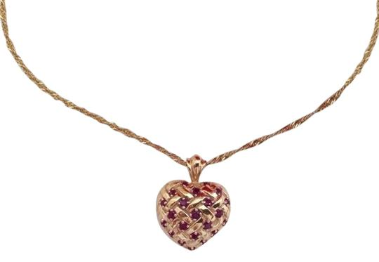 Preload https://img-static.tradesy.com/item/2201283/red-gold-ruby-14k-puffy-heart-pendant-necklace-0-1-540-540.jpg