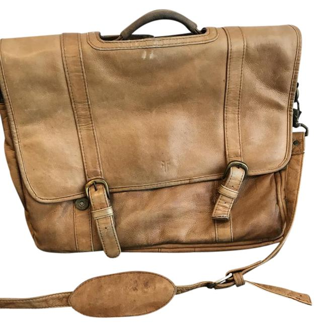 Item - Genuine Briefcase Tan Leather Laptop Bag